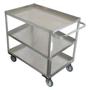 Grainge Stainless Steel Unassembled Utility Cart ss 29 L 1200 Lb 11a455 Silver