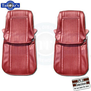 1966 Grand Prix Front Seat Covers Upholstery New Pui