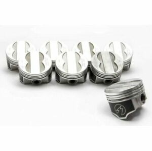 Speed Pro Forged Coated Skirt Flat Top 4vr Pistons Pontiac 400 Set 8 030
