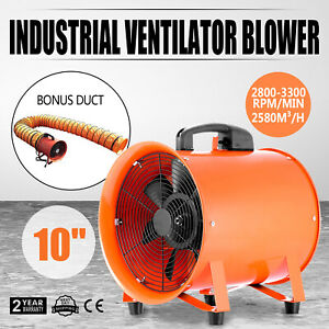 10 Industrial Extractor Fan Blower W Duct Hose Chemical Fume Ventilation