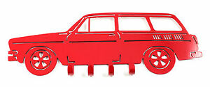 New Volkswagen Squareback Wall Mount Key Holder Red