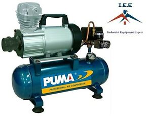 Pd1006 Puma 12 Volt Air Compressor 3 5 Cfm 1 Hp 150 Psi 1 5 Gallon Tank