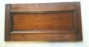 Vintage Architectural Walnut Panel Header Pediment Accent Piece