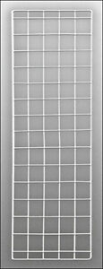 4 Pc New Retail White Finish Double Wire grid Panel 56 h X 18 w