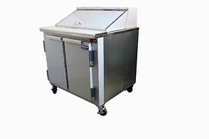 Commercial Salad Sandwich Refrigerator Prep Table Cooler 36 back Motor