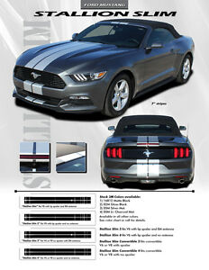 2015 2017 Ford Mustang Gt V6 Stallion Slim Rally Racing Decals 3m Stripes Ee3274