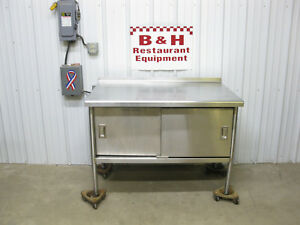 48 X 30 Stainless Steel Work Top Table Cabinet W Under Shelf 2 Doors 4