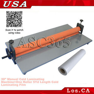 39 Manual Cold Laminating Machine Photo Laminator 5yd Cold Laminating Film