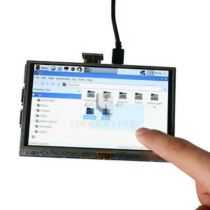 New 5 Inch Lcd 800x480 Hdmi Touchscreen Display For Raspberry Pi Pen Us Stock