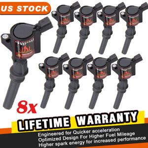 Super Ignition Coils Pack Spark Plug For Ford F150 F250 F550 4 6 5 4l V8 Dg508