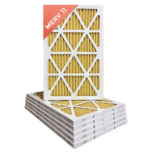 18x25x1 Merv 11 Pleated Ac Furnace Air Filters 6 Pack