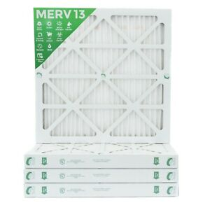 25x25x2 Merv 13 Pleated Ac Furnace Air Filters 8 Pack