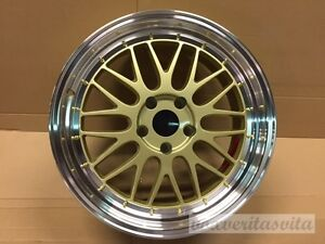 18 Lm Mesh Style Gold Wheels Rims Fits Toyota Corolla Celica Matrix 5x100