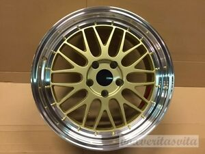 18 Lm Mesh Style Gold Wheels Rims Fits Vw Volkswagen 92 98 V6 Jetta 5x100