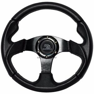 320mm Jdm 6 Bolt Hole Black Pvc Leather Steering Wheel For Subaru Ms Mazdaspeed