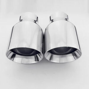 2pcs 2 5 In 4 Out 7 Long Exhaust Tips For Bmw Mustang Corvette Infiniti