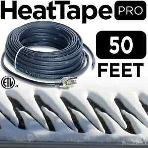 Heat Cable Commercial Plug in Self regulating Heat Tape For Roof 50 Ft 120v