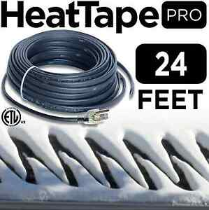 Heat Cable Commercial Plug in Self regulating Heat Tape For Roof 24 Ft 120v