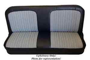 67 72 Chevy Gmc Std Cab Front Bench Seat Upholstery Vinyl Houndstooth Cloth