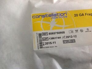 Alcon Constellation 20g Fragmentation Pak Ref 8065750958 6pcs