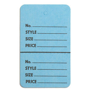 1000 Pc New Perforated Blue Merchandise Tags Without Strings 1 3 4 x2 7 8