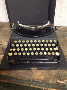 Vintage 1928 Black Portable Remington 1 Typewriter Works