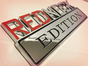 Redneck Edition Car Truck 3d Quality Emblem Logo Decal Sign Chrome Red Neck New Fits 1950 Ford