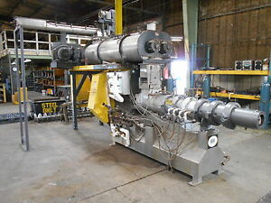 Extru Tech Extruder Model E 750 200 Hp 1780 Rpm With Wenger Double Conditioner