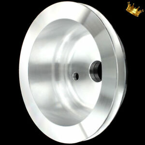Billet Small Block Chevy Lwp Crankshaft Pulley 1 Groove Fits 283 327 350 383 400
