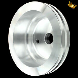 Billet Small Block Chevy Lwp Crankshaft Pulley 2 Groove Fits 283 327 350 383 400