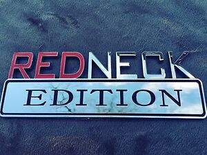 Redneck Edition High Quality 3d Car Truck Emblem Logo Decal Sign Chrome Red Neck Fits 1950 Ford
