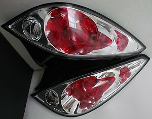 05 10 Pontiac Set Of Two r l Tail Lights chrome Clear Lens coupe Only