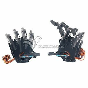 Robot Mechanical Claw Clamper Gripper Arm Five Fingers Right left Hand Assembled