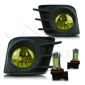 11 13 Scion Tc Fog Lights W Wiring Kit High Power Cob Led Bulbs Yellow