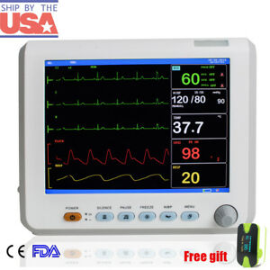 Hospital Icu Vital Signs Patient Monitor 6 Parameter Ecg nibp spo2 temp resp pr