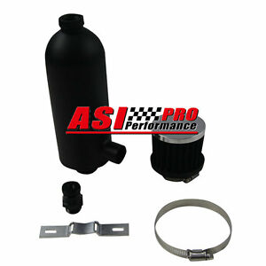 750ml Oil Catch Can Tank With Breather Drain Tap Npt Black High Per Pro