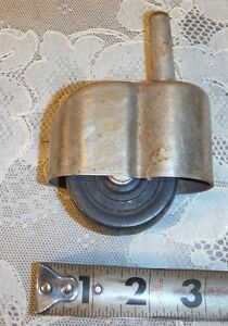 Vintage Shu Guard Steel Rubber Swivel Caster Covered Wheel Industrial Tool Cart