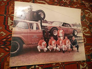 Vintage 1969 Pit Race Car Photo Smith S Used Cars Ford 60 Ashley Smith