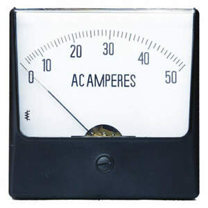 Grainger Approved Analog Panel Meter ac Current 0 50 Ac A 12g386