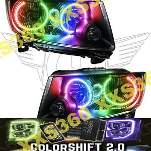 Oracle Halo Headlights N hid For Jeep Grand Cherokee 11 13 Led Colorshift 2 0