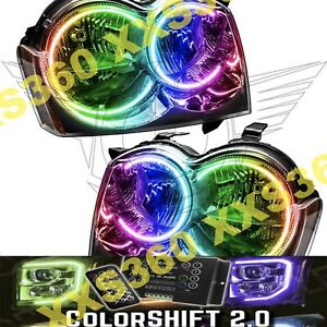 Oracle Halo 2x Headlights Non Hid For Jeep Grand Cherokee 05 07 Colorshift 2 0