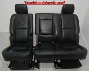 Yukon Tahoe Short 2010 2nd Row Black Leather Bench Seat Escalade Denali Second