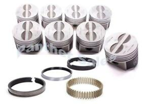Speed Pro Chrysler Dodge 440 Six 6 pack Forged Flat Top Pistons Moly Rings 030