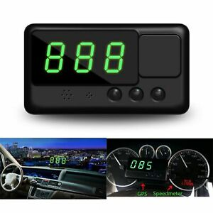 Universal Car Gps Hud Head Up Digital Speedometer Mph Km H Speed Warning System