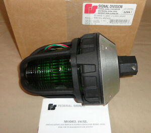 Federal Signal 191xl 024g Led Light Green Hazardous Locations 191xl024g New