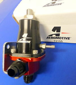 Aeromotive 13105 Compact Fuel Pressure Regulator Efi 30 70 Psi Adjustable 6 An