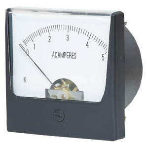 Grainger Approved Analog Panel Meter ac Current 0 5 Ac A 12g370