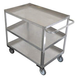 Grainge Stainless Steel Unassembled Utility Cart ss 41 L 1200 Lb 11a461 Silver