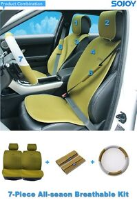Cooling Universal Car Seat Cover 2 Seats 7 Pc Kit Sojoy