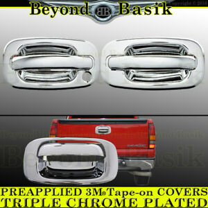 1999 2006 Chevy Silverado Gmc Sierra Chrome 2 Door Handle Covers Nopsk Tailgate